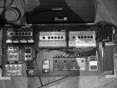 Chris Shiflett's pedalboard, complete with FullDrive2