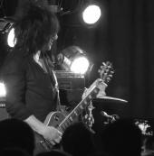 Steve Stevens, NAMM 2013, playing a Fulltone Tube Tape Echo
