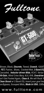 Fulltone GT-500 Guitar Player magazine ad