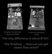 Fulltone Octafuzz OF-2, Tycobrahe comparison