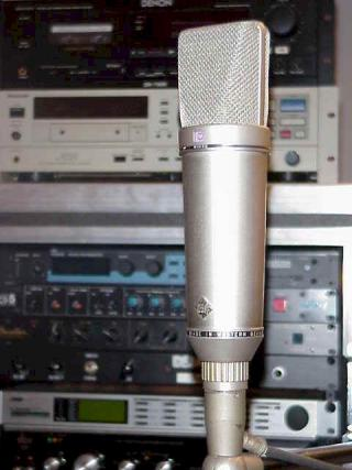 A Neumann U67, one of the most desirable mics ever for rock lead vocalists - use