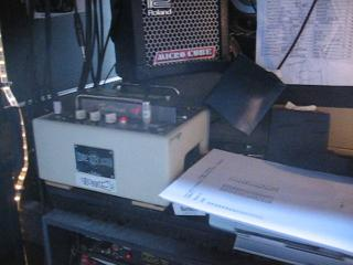 Ron Wood's tour rig complete with Fulltone Tube Tape Echo.