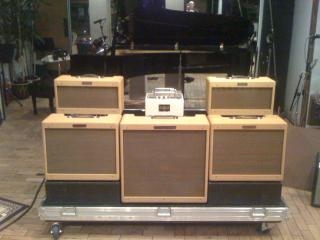 T Bone Burnett's rig on the Robert Plant / Allison Krause tour.