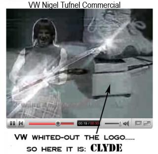 Nigel Tufnel playing a Clyde wah in a VW commercial.