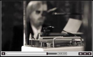 Tom Petty in his studio with the TTE.