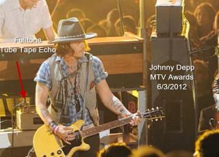 Johnny Depp with TTE at the 2012 MTV Video Awards