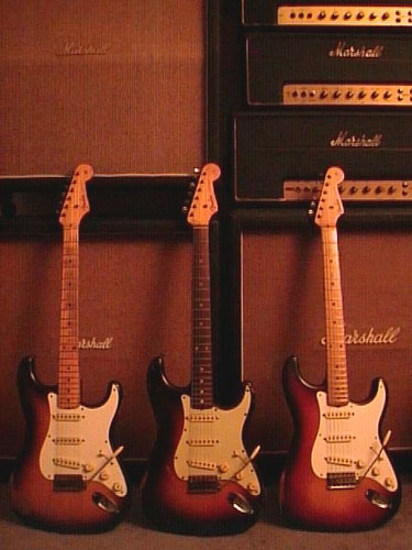 3 Vintage Strats and Assorted Marshall Amps | Fulltone Musical